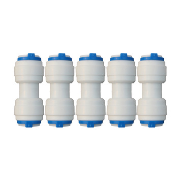 5 PCS 3/8 Tub OD Quick Connect Tube Fittings I-Type Straight inch Connector for RO Water Systems Purifier Accessories