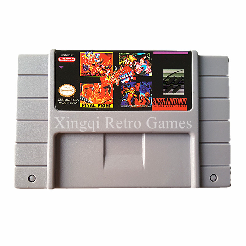 Super Nintendo SFC SNES MS02 5 in 1 Video Game Cartridge Console Card US Version English