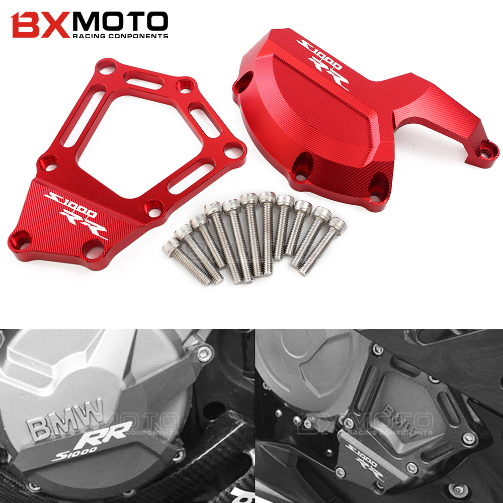 Motorcycle Engine Saver Stator Case Guard Cover Slider Protector for BMW S1000RR HP4 K42 K46 2009 2010 2011 2012 2013 2014 2015 waase radiator protective cover grill guard grille protector for bmw s1000rr s1000 rr 2009 2010 2011 2012 2013 2014 2015 2016