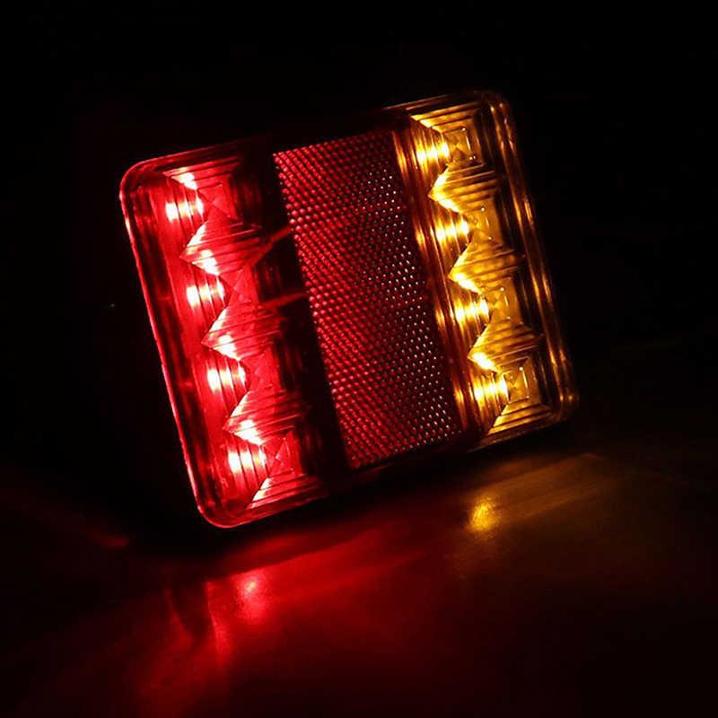 1 PC Mobil Truk LED Belakang Ekor Lampu Peringatan Lampu Belakang Lampu Tahan Air Tailight Bagian untuk Trailer Kafilah DC 12 V