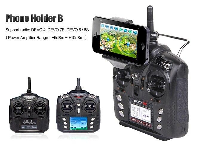 Free Shipping Walkera Phone Holder B for Devo 4 6 6s 7E Transmitter FPV