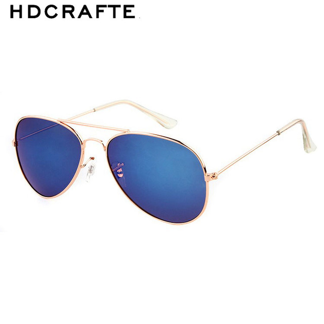 HDCRAFTER Size Classic Colorful Lenses Sunglasses Women Brand Designer Mirror Eyewear Shades Men Sun Glasses with Box