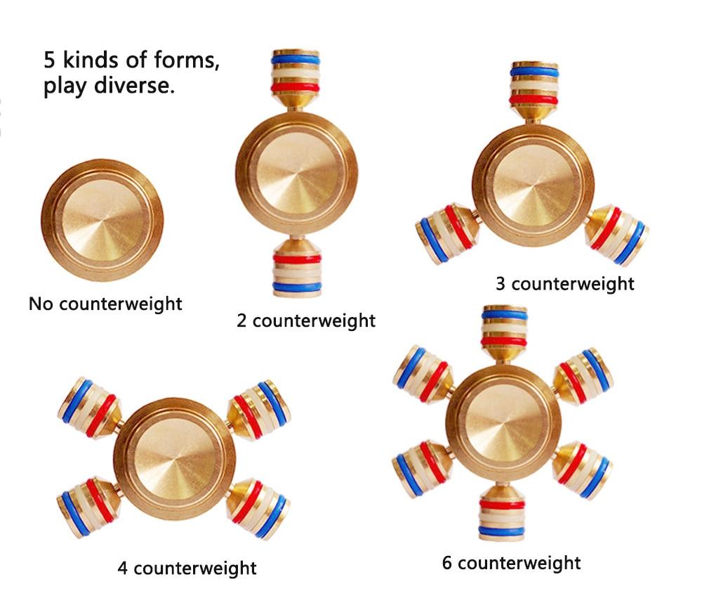 Edition Luminous Brass Finger Spinner Fidget Toy Integral Disassembly High Freedom Hand Spinner Tri Spinner Long