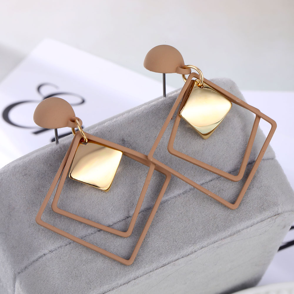 IPARAM Fashion Statement Geometric Drop Earrings for Women Vintage Alloy Earrings Party Jewelry Gifts Wholesale