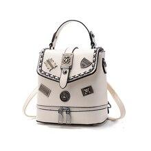 Новинка 2017 года; стильное платье Женские Рюкзаки Высокое качество PU кожаные женские рюкзаки для девочек-подростков Bagpack сумка на молнии женский подарок