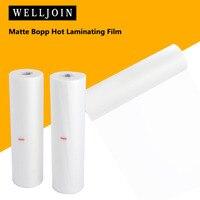 New 2 Rolls 12.6x 656' Matte Bopp Hot Laminating Film 1 Core for Lamination Laminate machine 25 mic