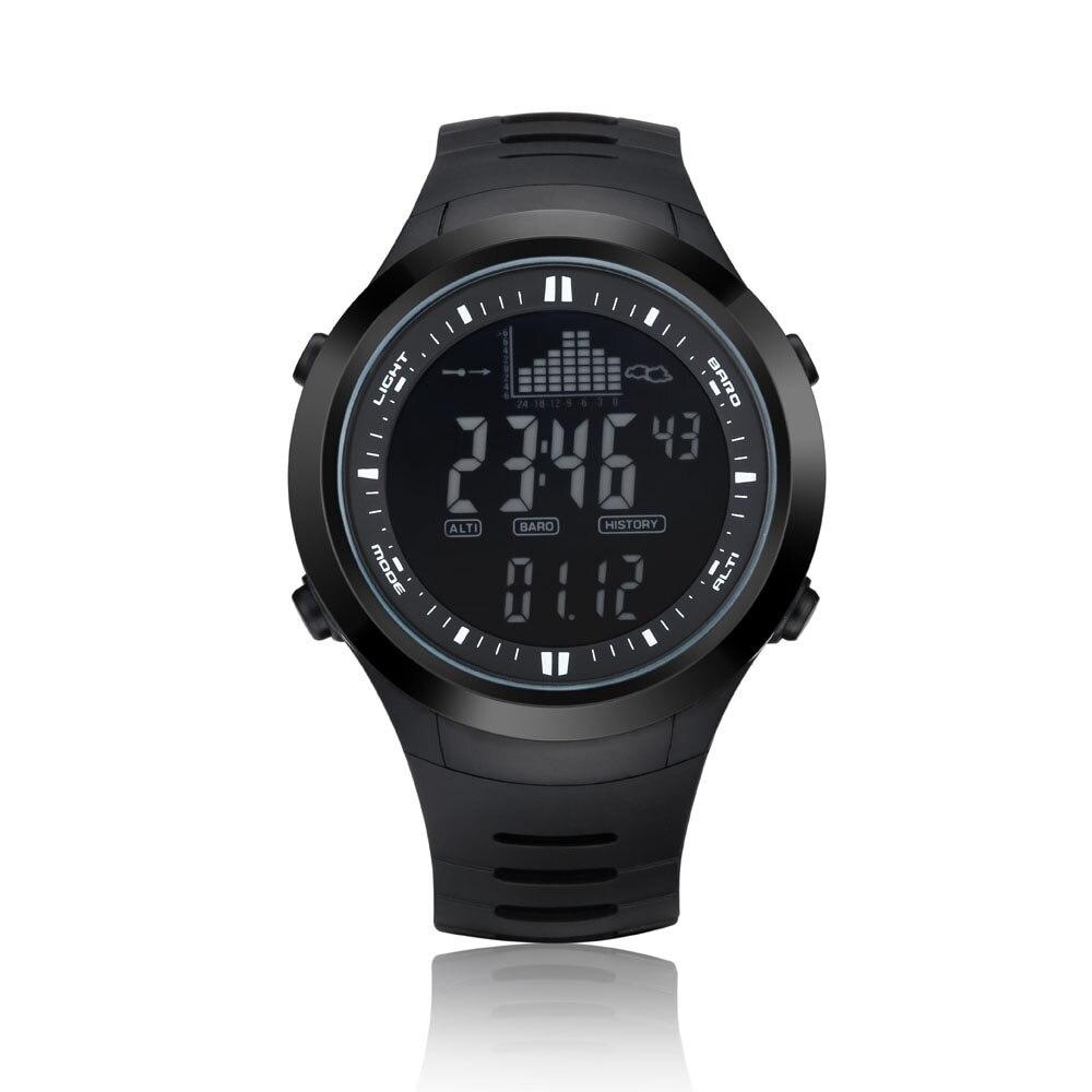 Montre de pêche baromètre 5ATM thermomètre étanche altimètre hommes Sports militaires Digita montres-bracelets Spovan prévision météo #