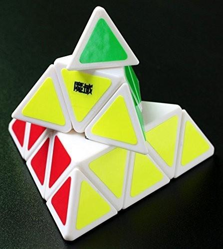 MoYu Velocidad Pyraminx Blanco De Plástico Cubo Mágico Giro Puzzle Juguetes de Inteligencia cubo mágico para Speedcubers y Puzzles