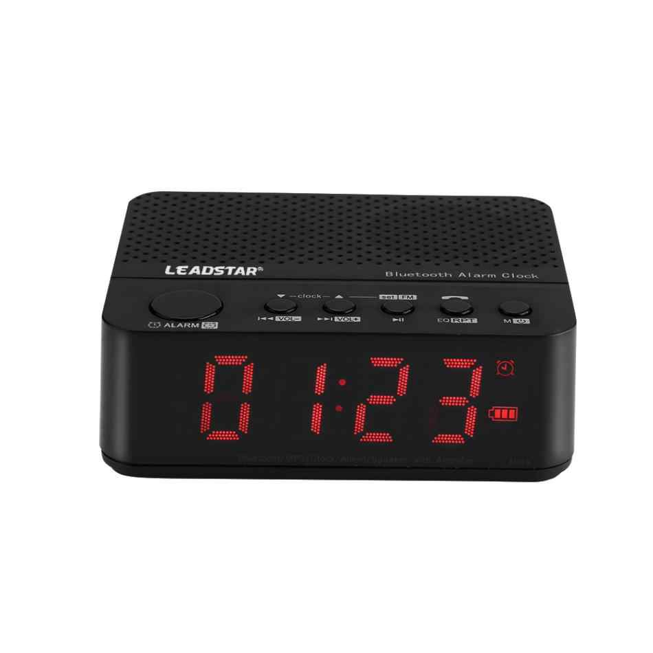 LEADSTAR Portabel Mini Wirelss LED Jam Alarm Bluetooth Speaker Hands-free Panggilan FM Radio Amplifier Dukungan Kartu TF MX-17 Model