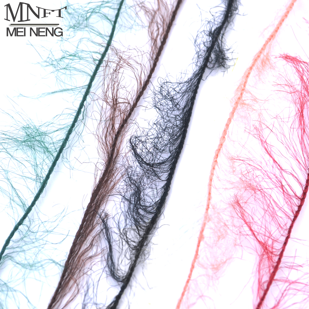 MNFT 5 Meters Assorted Colors Fly Tying Dubbing Line Yarn Scud Sand Worm Flies New Fly Tying Material For Nymph Adult Body 10 pieces 10 x 5 5 cm fly tying rainbow film sabiki rig shrimp back wings scud nymph tying clear flash film fly tying materials
