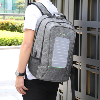 Solar Powered Backpack USB Charging  5