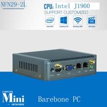 Два сетевых портов промышленного ПК с J1900 4 ядра Процессор, система поддержки без вентилятора вычислений с SIM 3G 24bit LVDS Barebone PC
