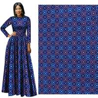 2019 New Arrival 100% Polyester Wax Africa Ankara Fabric Real Dutch Printing Wax Tissu High quality for Party Dress 6yards Woman
