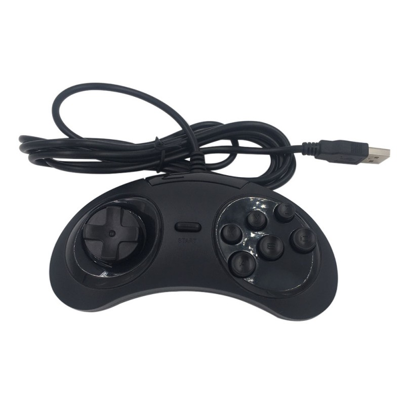 6 Buttons Classic Wired SEGA USB Gamepad USB Game Controller Joypad for SEGA Genesis/MD2 Y1301/ PC /MAC Mega Drive
