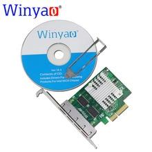 Winyao wy1000t4 pci-e x4 quad port 10/100/1000 mbps gigabit ethernet karta sieciowa lan intel server adapter i350-t4 nic