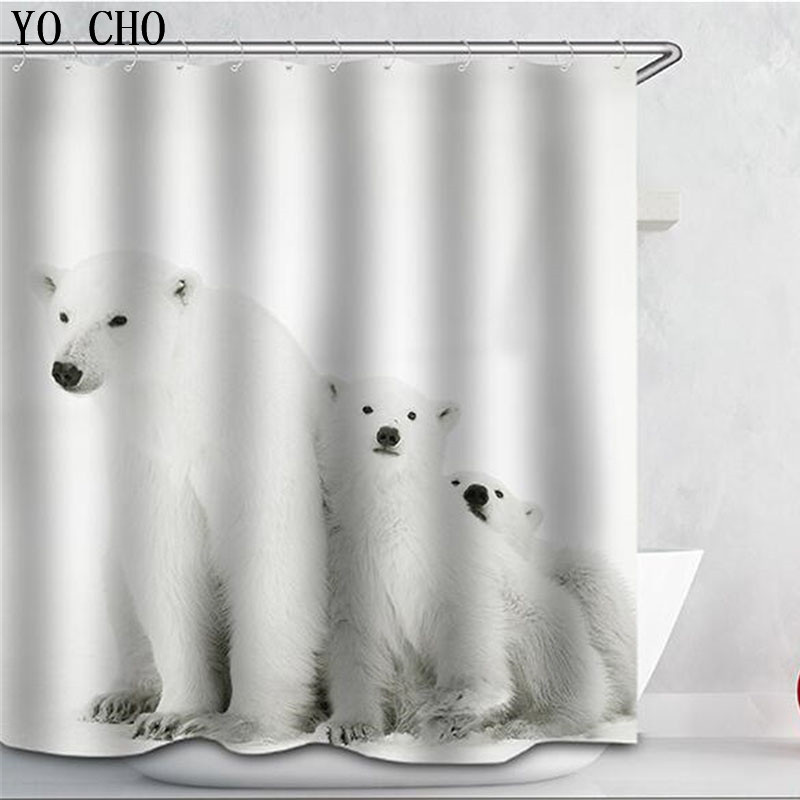 Eco Friendly Polyester 3D Thicken Monkey Bath Curtain Animal Shower Curtains Waterproof Home Bathroom Accessories 12 Hooks In From