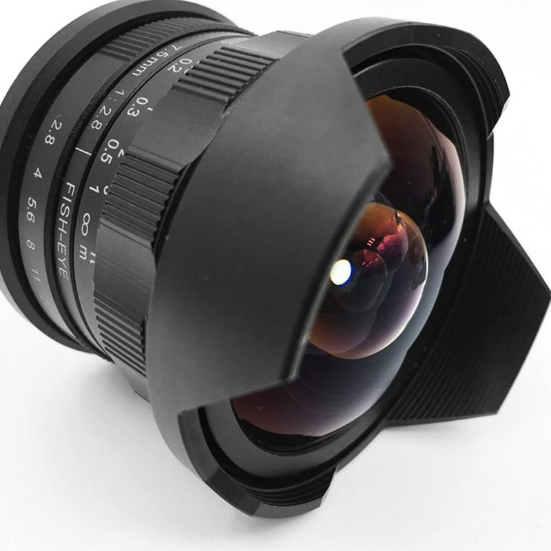 OCDAY 7.5mm F/2.8 Camera Fisheye Lens 180 Degree Multi-coated For Sony E Mount A6500 A7 II/M4/3 GH4 GH5 / Fuji X-T2 /Canon M10 объектив lensbaby circular fisheye for fuji x 83053 lbcfef