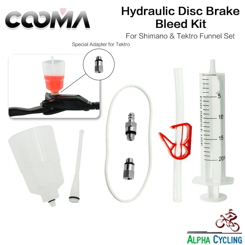 COOMA's Hydraulic Brake BLEED KIT For SHIMANO And Tektro Brake System, Mineral Oil Brake, Funnel Set Basic Kit V0.5