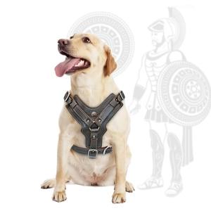 Image 3 - Coleira de couro genuíno para cães grandes, coleira para adestramento com alça de controle rápido ajustável, para labrador pitbull k9