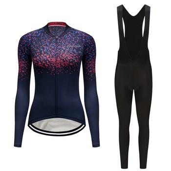 2019 Mulheres conjuntos de roupas de ciclismo Pro camisa bicicleta kit esportes desgaste triathlon skinsuit longo roupa feminino vestido roupas de bicicleta
