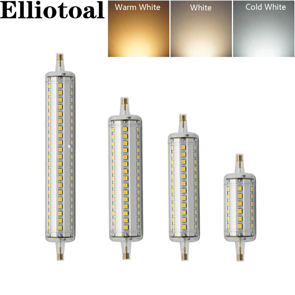 R7s Led Dimmable Bulb R7s Led Corn 2835 Smd 78mm 118mm 135mm 189mm Light 5w 10w 12w 15w Replace Halogen Lamp Ac 85 265v Floodlight