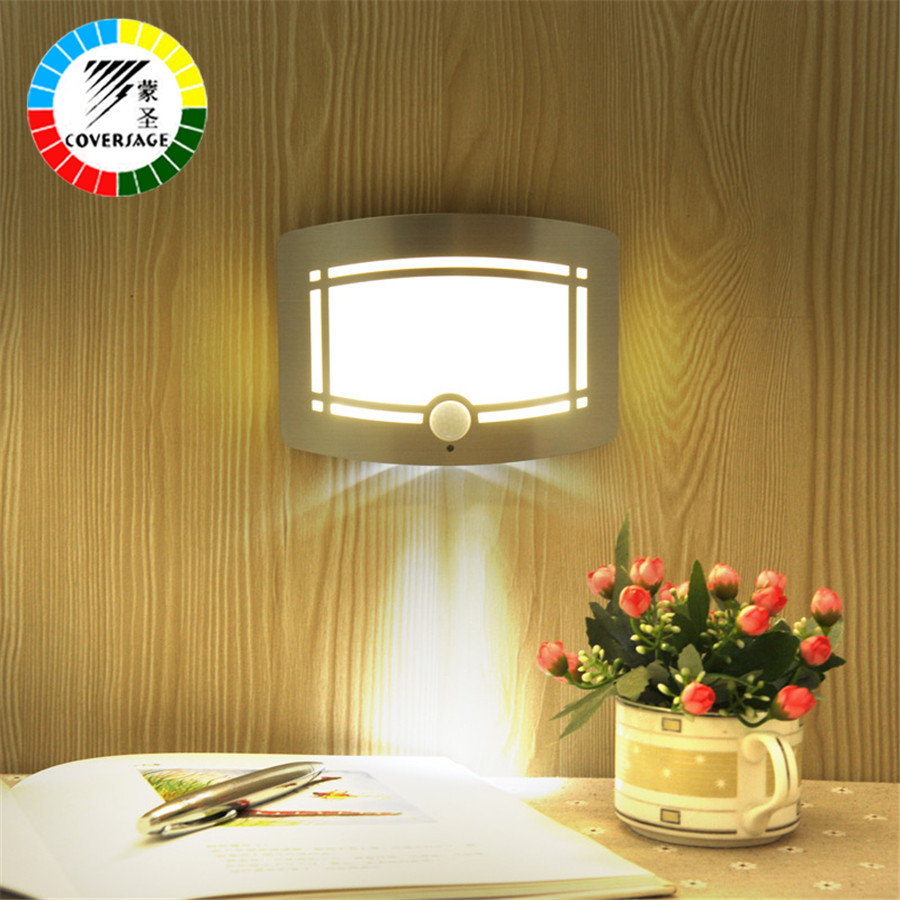 Coversage Led Motion Sensor Night Lights for Home Luminaria Ceiling ...