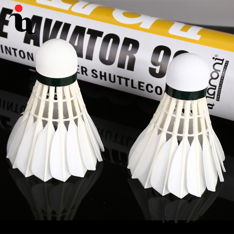 IANONI Badminton Ball New A90 12 Natural Vietnam Duck 1 Level Training Ball High Quality Durable Speed 77 Shuttlecocks Package