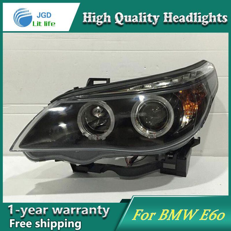 Auto Clud Style LED Head Lamp for BMW E60 520 523 525 530 led headlights signal led drl hid Bi Xenon Lens low beam