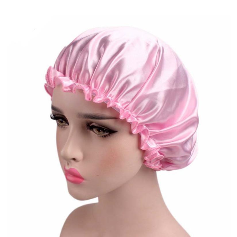 Women Fashion Soft Satin Hair cap resuable protective home salon beauty Hair accessory 2U0608