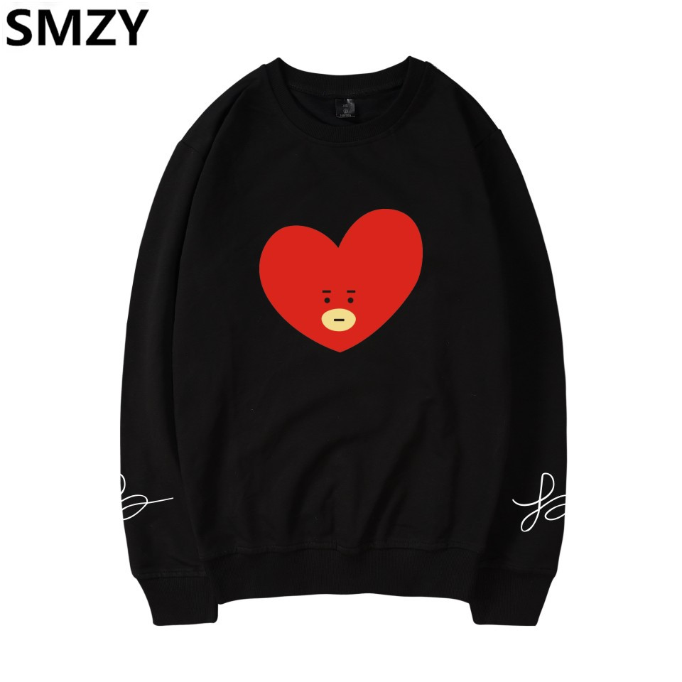 SMZY BTS K-pop Capless Hoodies Vrouwen Casual Korea Bangtan Hip Hop Fans Hoodies Women C ...