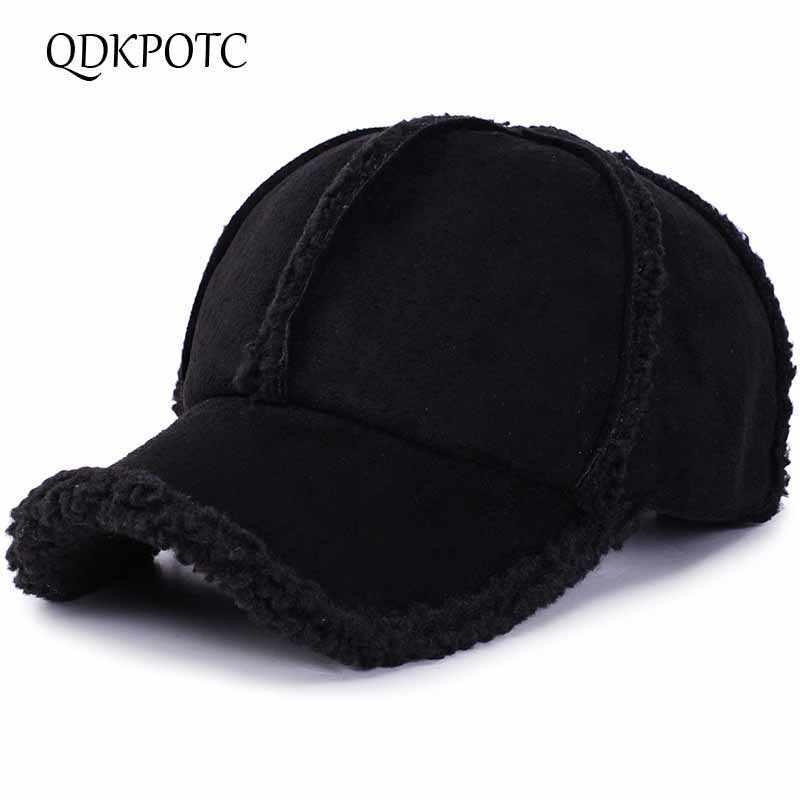 Brand QDKPOTC Winter Autumn Thickening Baseball Caps Men Women Cotton High  Grade Hat Keep Warm Leisure d34d487df544