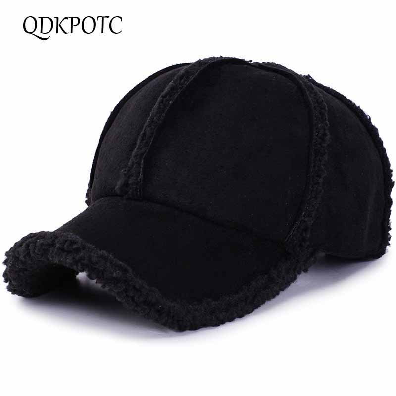 Brand QDKPOTC Winter Autumn Thickening   Baseball     Caps   Men Women Cotton High Grade Hat Keep Warm Leisure