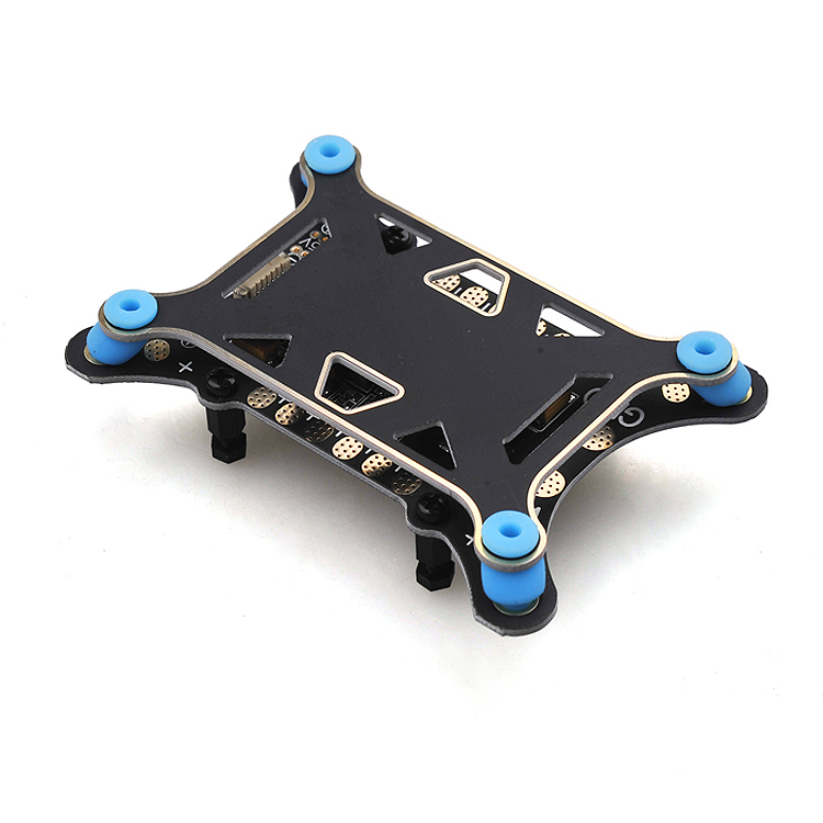 F16122 5 in 1 Shock Absorber Damping Plate Integrated Power Module ESC Power Distribution Board 5V & 12V BEC For DIY FPV APM PX4 matek v3 1 mini power power distribution board pdb with bec 5v & 12v for quadcopter multicopter