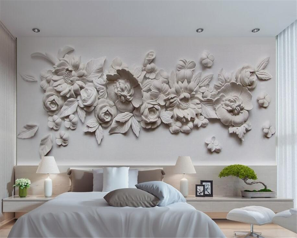 Beibehang 3D Wallpaper 3d Stereo Fine Oil Painting Style European Gypsum Carved Backdrop Living Room Bedroom wall 3d wallpaepr book knowledge power channel creative 3d large mural wallpaper 3d bedroom living room tv backdrop painting wallpaper