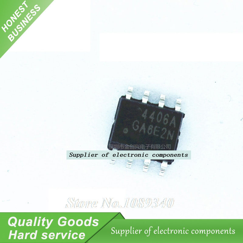 10PCS AO4406A SOP-8 AO4406 4406A Liquid crystal field effect New Original Free Shipping