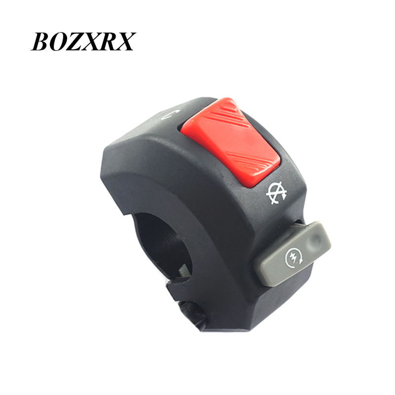 bozxrx 22mm chaves da motocicleta guiador farol interruptor interruptor de controle duplo perigo de freio luz