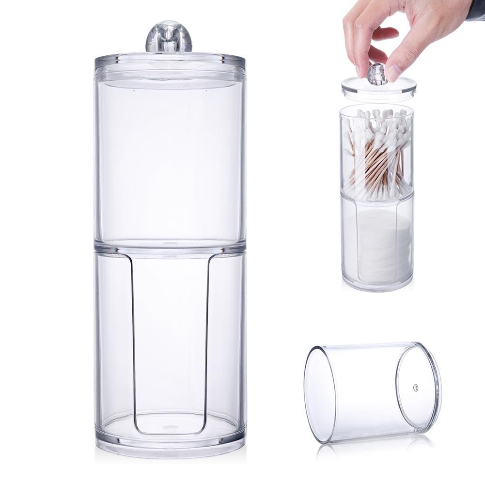 Acrylic Storage Container for Makeup Cotton Pads and Cotton Swabs 2