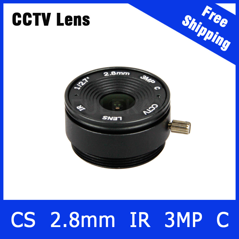 3Megapixel Fixed CS Mount 140 Wide angle Lens 2.8mm For 720P/960P/1080P IP CCTV Camera and AHD/CVI/TVI Camera Free Shipping 3megapixel fixed m12 cctv lens 1 2 5 inch 3 6mm for ov2710 ar0230 720p 1080p ip camera or ahd cvi tvi cctv camera free shipping