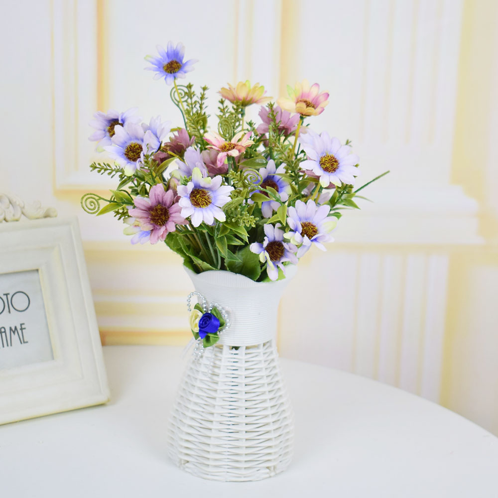 Plastic white artificial flowers vase for homes tabletop party plastic white artificial flowers vase for homes tabletop party weddings living room decorations flowerpot red purple blue in vases from home garden on reviewsmspy