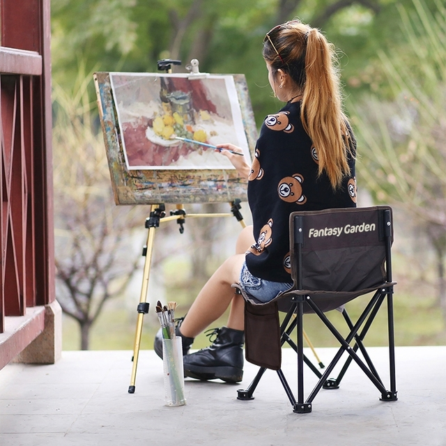 Cool Us 27 88 20 Off New European Portable Small Folding Stool Outdoor Folding Chair Fishing Chair Leisure Beach Chair Painting Sketch Chair In Beach Bralicious Painted Fabric Chair Ideas Braliciousco