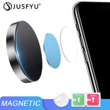 Mini Magnetic Car Dashboard Phone Holder Universal Wall Desk Metal Magnet Sticker Mobile Stand Mount Support