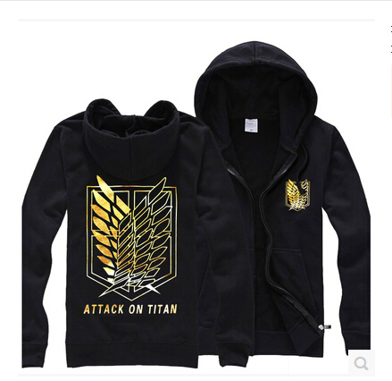 Attack on titan cotton cosplay jacket  mens hoodies and sweatshirts 3d Printed tracksuit Cardigan