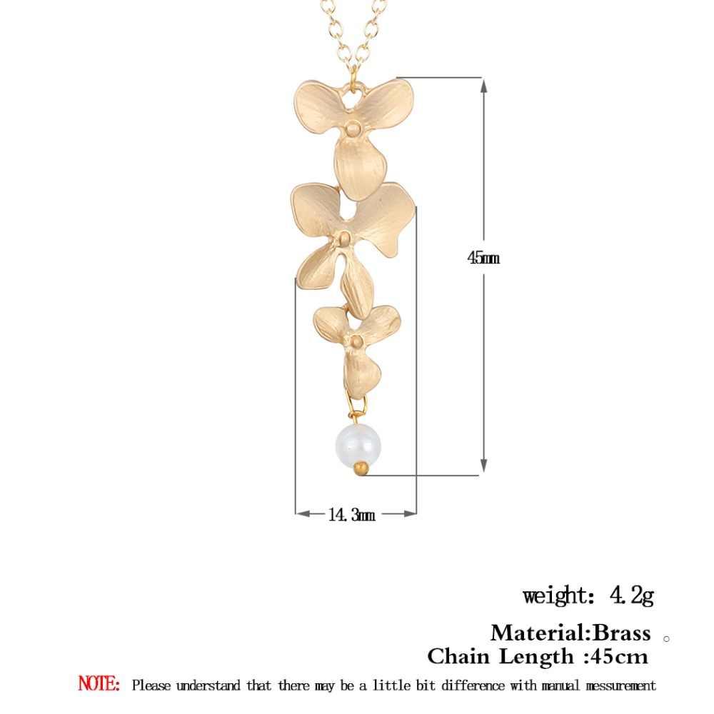 Todorova orchidea naszyjnik kwiatowy Collier Femme imitacja pereł kwiatowe uroku wisiorek kobiety biżuteria w stylu Vintage najlepszy przyjaciel prezent