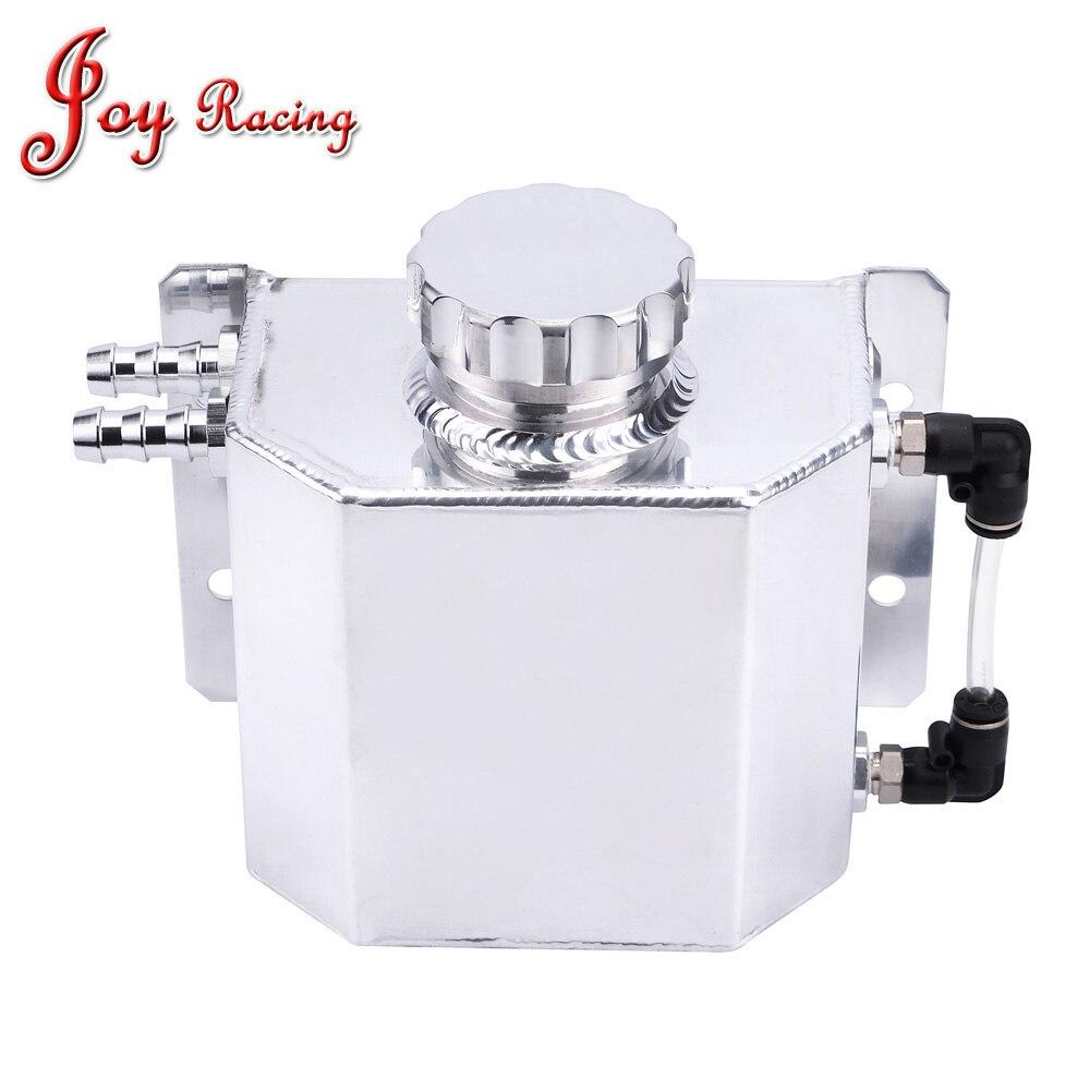 Universel 1L voiture radiateur trop plein réservoir aluminium bouchon d'huile bidon réservoir d'huile