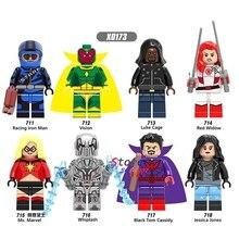 Single Super Hero Luke Cage Iron Man Vision Whiplash Jessica Jones Red Widow Ms. Marvel Cassidy building blocks toy for children