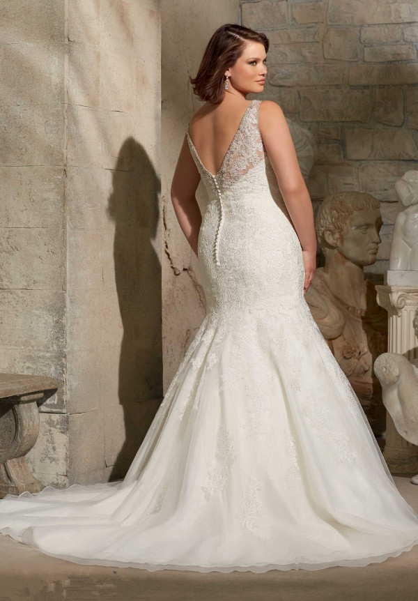 Plus Size Wedding Dresses Mermaid Style V Neck New Arrival Lace On Gown Beaded Vintage Dress 2017 In From Weddings