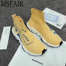 MSFAIR Γυναίκες 2018 Εραστές Άνδρες Τρέξιμο Παπούτσια Για τις Γυναίκες Fly γραμμή πλέξιμο Κάλτσες Αθλητικά παπούτσια Ο άνθρωπος Μάρκα αδιάβροχα Γυναικεία αθλητικά παπούτσια