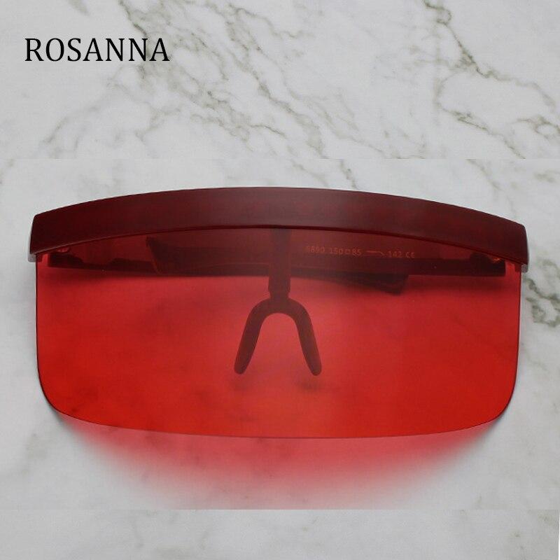 ROSANNA Sexy Oversized Shield Visor Sunglasses Women New Designer Big Frame Mirror Sun Glasses Shades Men Windproof Eyewear 668