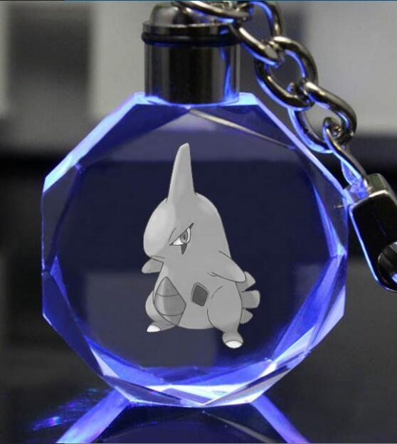 Аниме брелок светодиодный кристалл с покемонами в ассортименте