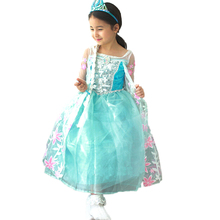 Hot Sell Elsa Anaa Girls Princess Children Dress Party Fantasia Vestidos Infants Dresses Summer Baby Kids Custom Dressessses